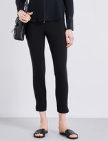 Elizabeth and James Skinny high-rise twill trousers
