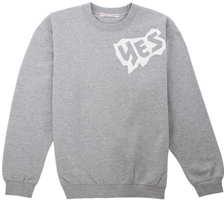 Sabrina Dehoff Grey Sweatshirt with print YES - XL / Grey Heather - Grey
