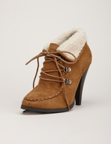 Lace-Up Shearling Bootie