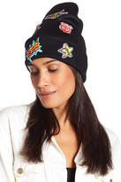 Natasha Accessories Knit Patch Beanie
