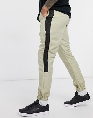ASOS DESIGN tapered cargo joggers with elasticated waist in nylon