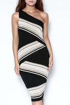 Bailey 44 One-Shoulder Striped Dress