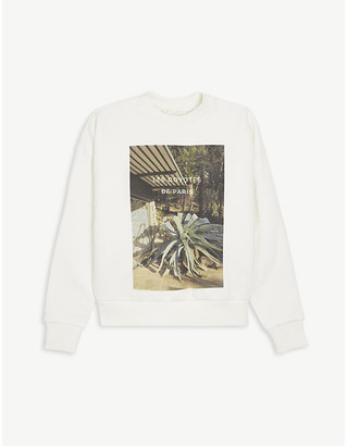 LES COYOTES DE PARIS Betty photo print cotton-blend sweatshirt 8-18 years