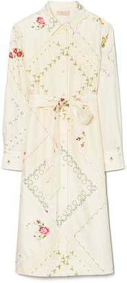 Tory Burch Handkerchief Printed Shirtdress