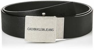 Calvin Klein Men's J 4cm Adj.Plaque Leather Belt