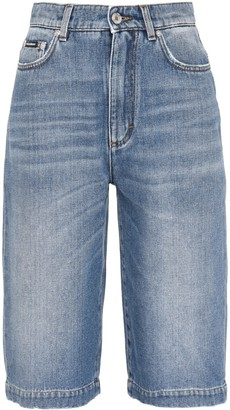 Dolce & Gabbana Cotton Denim Bermuda-shorts