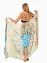 SHU-SHI Womens Beach Swimsuit Cover Up Sarong Wrap Seahorse Mandala & Coconut Tie