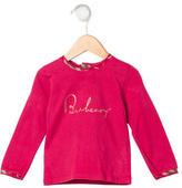 Burberry Girls' Logo Print Long Sleeve Top