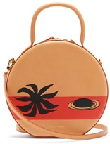 Mansur Gavriel X Calder Circle Printed Leather Cross-body Bag - Womens - Beige Multi
