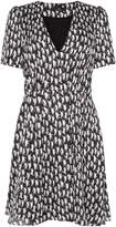 Paul Smith Cat print v neck dress