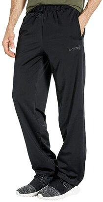 adidas Essentials Tricot Open Hem Pants (Black/Black) Men's Workout