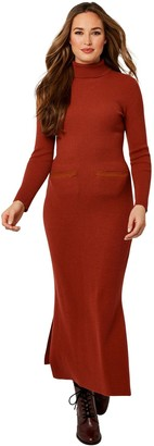 Joe Browns Fabulous Ribbed Knitted Dress - Rust