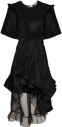 Preen by Thornton Bregazzi Puff-Sleeve Mini Gown