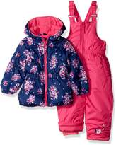Pink Platinum Baby Girls Floral Jacket Print Snowsuit