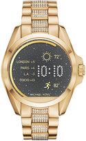 Michael Kors Access Unisex Digital Bradshaw Pavé Detail Gold-Tone Stainless Steel Bracelet Smart Watch 45mm MKT5002