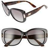 Versace Women's 56Mm Retro Sunglasses - Black/ Havana