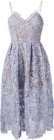 Self-Portrait embroidered dress - women - Cotton/Polyester/Spandex/Elastane - 14
