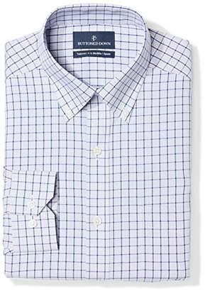 Buttoned Down Men's Tailored Fit Button-Collar Pattern Non-Iron Dress Shirt