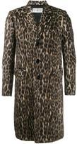 Saint Laurent leopard print coat - men - Cotton/Polyamide/Cashmere/Virgin Wool - 44