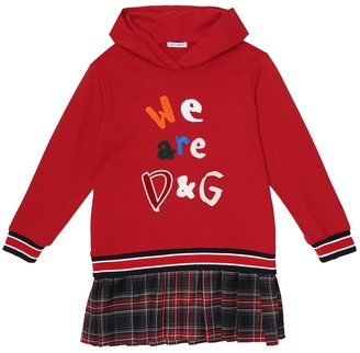 Dolce & Gabbana Kids Cotton-blend jersey dress