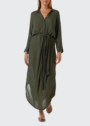 Melissa Odabash Alesha Rayon Crepe Shirtdress Coverup