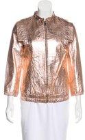 Loeffler Randall Metallic Leather Jacket w/ Tags