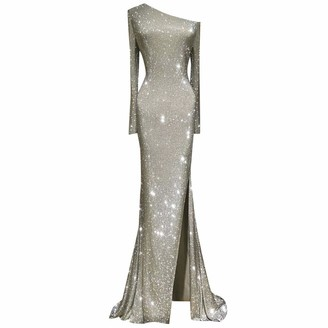 Ashui Women Lace Sleeveless Dresses Sexy Slim Dress Print Hollow Dress Sequins Dress Party Club Sparkly Dresses Silver