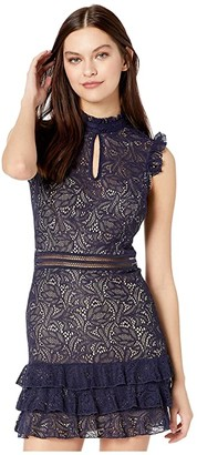 Bardot Bettina Lace Dress (Navy) Women's Dress
