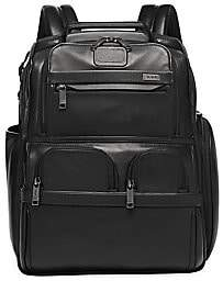 Tumi Men's Leather Compact Laptop Brief Pack