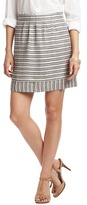 LOFT Striped Elastic Waist Skirt