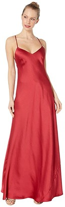 BCBGMAXAZRIA V-Neck Gown Dress (Rogue) Women's Dress