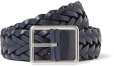 Paul Smith 3cm Navy Woven Leather Belt