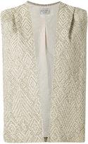 Forte Forte boxy waistcoat - women - Cotton/Linen/Flax/Nylon/Polyester - I
