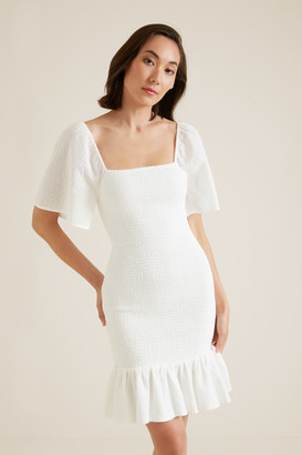 Seed Heritage Shirred Broderie Dress