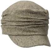D&Y Women's Marled Ruched Cadet Hat