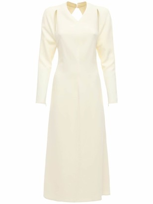 Victoria Beckham Fluid Cady Midi Dress W/Back Cut Out