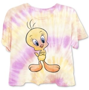 Warner Brothers Juniors' Tweety Tie-Dyed T-Shirt