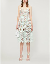 Self-Portrait Self Portrait Azalea floral-lace midi dress