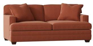Russet Wayfair Custom UpholsteryTM Living Your Way Track Arm Apartment Sofa Wayfair Custom UpholsteryTM Body Fabric: Nobletex