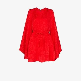 Stella McCartney belted long sleeve silk dress