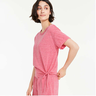 Joe Fresh Women's Tie Hem Sleep Tee, Fuchsia (Size XL)
