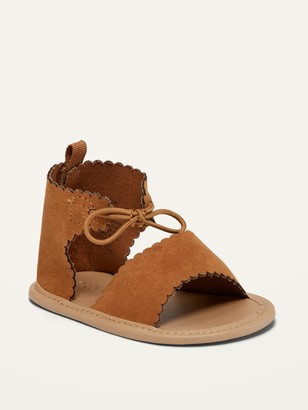 Old Navy Scalloped Faux-Suede Gladiator Sandals for Baby
