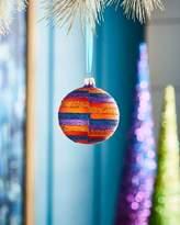 Christborn Wegner Playful Brights Collection Matte Orange Offset Stripes Ornament