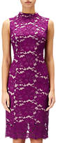 Adrianna Papell Juliet Lace Sleeveless Sheath Dress, Wildberry/Blush