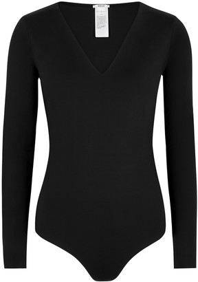 Wolford Vermont Black Stretch-jersey Bodysuit