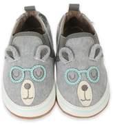 Robeez Brainy Bear Shoe in Grey