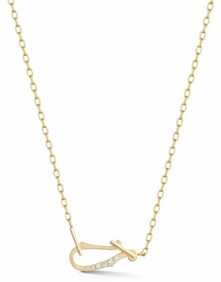Jade Trau Mini Diamond Loop Necklace