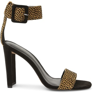 BCBGeneration Winoni Cheetah-Print Suede Heeled Sandals