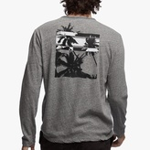 James Perse Recycled Knit Graphic Crew