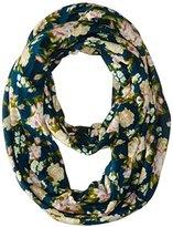D&Y Women's Floral Fine Knit Loop Infinity Scarf